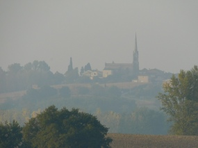 View of Escassefort, in Distance