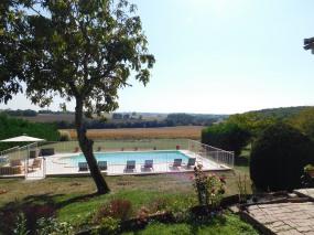 Pool with Backyard View